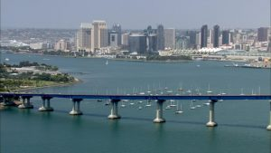 San Diego Bay and Skyline Overlooking Coronado Bay Bridge