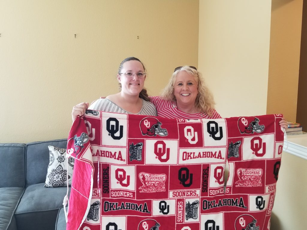 Oklahoma Sooners Machine Embroidery Snuggle Sack